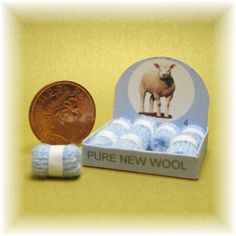 Dolls house miniature shop  wool display by MiddlemumsMiniatures, £3.00