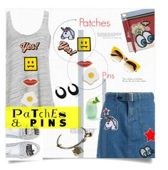 """Patches and Pins"" by linkfari ❤ liked on Polyvore featuring Bling Jewelry, Sans Souci, Kurt Geiger, Project Social T, Dolce&Gabbana, Chiara Ferragni, Georgia Perry, Anya Hindmarch, Hipstapatch and patchesandpins"