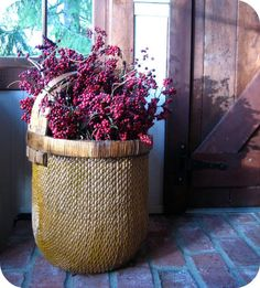 Sweet old basket with berries