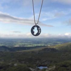 Ireland Map Necklace Celtic Necklace, Map Necklace, Dog Tag Necklace, Coin Jewelry, Jewelery, Ireland Map, Irish Design, Irish Jewelry, Irish Celtic