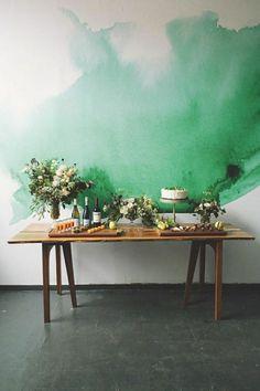 avantgarde Kunst ist aktuell auch auf den Wänden in der Wohnung