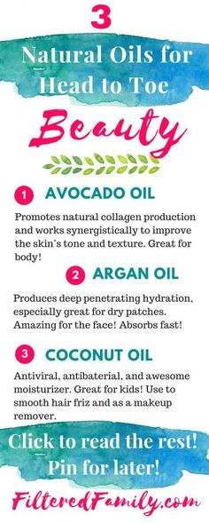 I love these remedies! They've made such a big difference and the best part is that I'm avoiding nasty toxins. Regular beauty products can disrupt hormones and have known cancer causers. These are so much better and leave me gorgeous! --  Infographic -3 Natural Oils I Use for Head to Toe Beauty | via http://FilteredFamily.com
