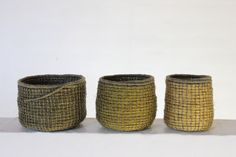 Tybrindbinding - coiling made in a technic after a 6000 year old danish textile found in Tybrind Bay, Denmark. - B Maj
