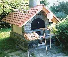 Stone oven Stone ovens oven- Steinbackofen Steinbacköfen Backofen Stone oven Stone ovens Oven – – # Outside kitchen - Pergola Carport, Wood Pergola, Diy Pergola, Wood Projects For Kids, Kids Wood, Pizza Oven Outdoor, Outdoor Cooking, Outdoor Grill, Bread Oven