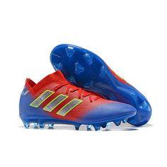 41fb039577407 Comprar rojo Verde Azul 2018 Adidas Nemeziz 18.1 FG Botas de futbol Baratas