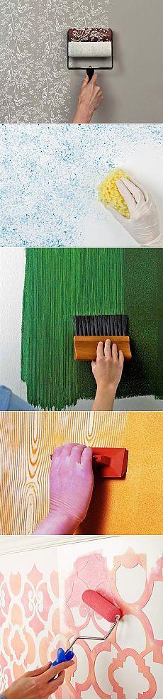 Formas originales de pintura de paredes - Nuestras casas Más