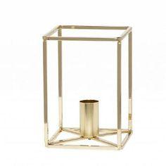 Hübsch Interior Metall-Kerzenständer Gold
