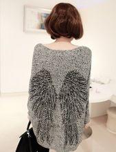 Pullover soltos mulheres plus size blusas Venda quente de inverno 2014 da moda padr?o asa mulheres de manga morcego irregular malha camisola(China (Mainland))