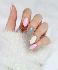 Sweterek <3 róż szarość i biel