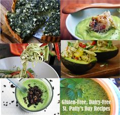 Gluten-Free, Grain-Free St. Patrick's Day Recipes! Most are Dairy-Free too making them #Paleo and #SCD, #GlutenFree!