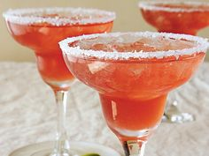 Cranberry-Lime Margaritas... yummm