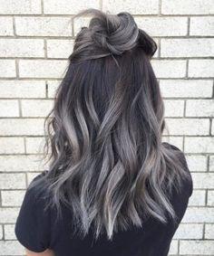 Hair accessory: hun grey hair wavy hair ombre hair hair dye