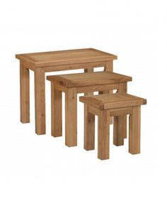 The Jenny range is crafted from soft toned solid oak that brings a sense of relaxation to your home. This range's clean, simple, and timeless design will compliment all decors. Wooden Furniture, Living Room Furniture, Dream Decor, Solid Oak, Timeless Design, Dining Chairs, Relax, Nest, Tables