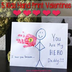 5 Kids Homemade Hand Print Valentine Ideas | The Pinning Mama