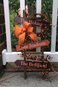 Virginia Tech Decor.  Va Tech Porch, Door, or Wall Decor for VT Fans!