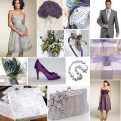 eggplant and silver wedding colors.  vintage--Google Image Result for http://4.bp.blogspot.com/_OpneQ8UhPuM/TODcXSiNiEI/AAAAAAAACf0/j3CJ2zdncDc/s1600/purple_and_grey_wedding_colours.jpg