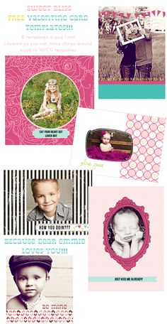 FREE valentine card templates