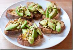 Pistachio and Avocado Crostini | Keep I Simple Foods
