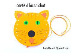 carte à lacer chat