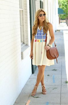 Summer Tassel Swing Dress