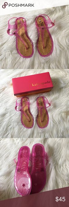 NIB Kate Spade Jelly Sandals Brand new with box. Women's Size 7. NO TRADES PLEASE kate spade Shoes Sandals
