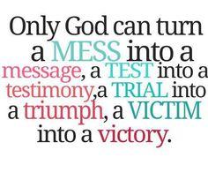 Let go, and let God!