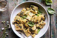 horizontal photo of Simplest Zucchini Parmesan Pasta Raw Food Recipes, Pasta Recipes, Italian Recipes, Dinner Recipes, Dinner Ideas, Zucchini Lasagne, Zucchini Pasta, Parmesan Pasta, Zucchini Parmesan