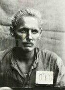 Erich Hartmann in a war prisoners' camp.