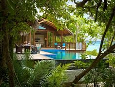 Shangri-La's Villingili Resort and Spa has tropical luxury tree house villas perched three metres above the ground -- a first in the Maldives