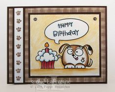 Paper Smooches, Chubby Chums Doggie birthday