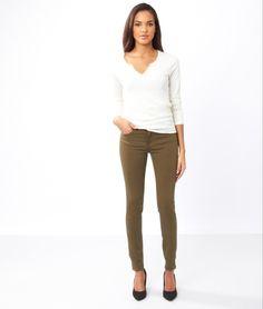 Ankle zip skinny jeans - KATIE - KAKI - Etam