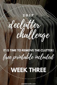2017 Declutter Challenge: Week Three + Week Two Recap   www.awelderswife.com