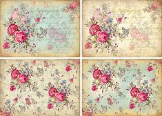 DigiTAL DoWnLOAds ShaBBY ChIc GiFt TAgs FLoRaL baCKgroUnds ATC bAckGroUnDs FrENch EphEmeRa PrinNTaBLe sCrAPbooKing PiNK rOsEs, No. 100. $3,50, via Etsy.