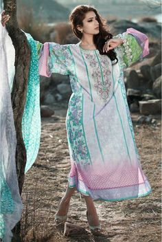 Maria.B Latest Summer Lawn Collection 2014 | Stitched Lawn Suits