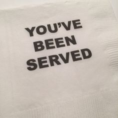 Set of 25 You've Been Served Law School Graduation Cocktail Napkins