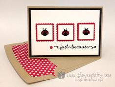 Stampin up stamping stamp it pretty mary fish blog a fitting occasion postage stamp punch card ideas