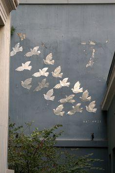Athens street art, Greece by Fasianos Greek Paintings, Street Art Graffiti, Love Painting, Chalk Art, Land Art, Artist Art, Art Music, Urban Art, Art Forms