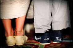 Two things I adore: boat shoes and subtle humorous displays of affection.  Love these shoes!  themarriedapp.com hearted <3