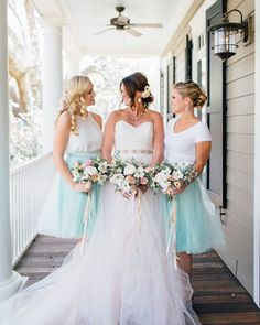Here's one more for tonight from our styled shoot that was published in @southernweddings today! Check it out. Link in profile  Gown @ivoryandbeau  Bridesmaids: @whimsyluxxe  Venue: @sonshineoaks  Flowers: @thepurplemagnolia