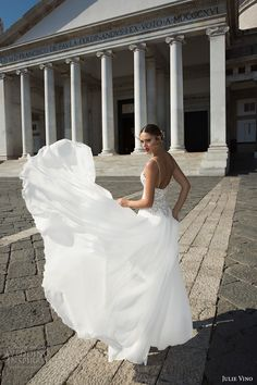 julie vino fall 2017 bridal sleeveless spagetti strap sweetheart neckline heavily embellished bodice romantic sexy a  line wedding dress (1216) mv