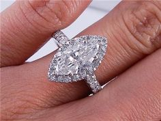 2.61 CT TW MARQUISE CUT DIAMOND ENGAGEMENT RING