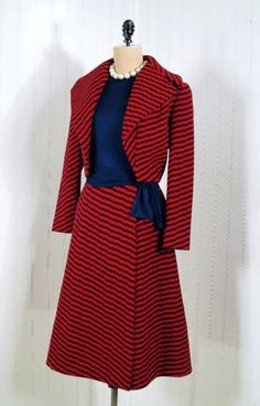 Suit, Pauline Trigère, 1960s, Timeless Vixen Vintage. From OMG that Dress! blog