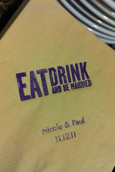 Adorable cocktail napkins