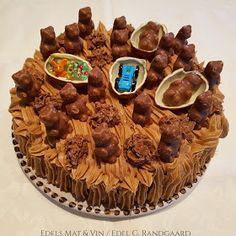 Edels Mat & Vin: Sjokoladekake med melkesjokoladekrem 💗