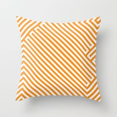 Chevron F colour Throw Pillow by Nicoleap - $20.00