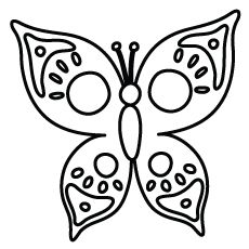 Beautiful Design Butterfly For Children Coloring Pages