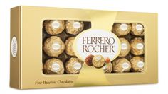 Ferrero Rocher� is a unique and delicious chocolate experience made by Italian chocolatier Ferrero, since 1982. The chocolates are a tempting combination of smooth chocolaty cream surrounding a whole hazelnut