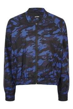 BEYONCE IVY PARK NAVY BLUE CAMO WOMENS LADIES BOMBER JACKET SIZE 10 (SMALL) BNWT #IvyPark #Bomber #Casual