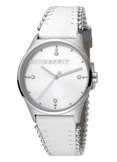 M&M Horloge met Vierkante Kast en Crème Lederen Band