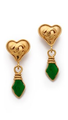 WGACA Vintage Vintage Change Heart Earrings